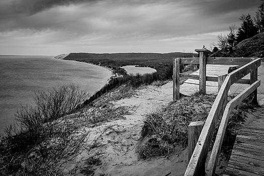 Empire Bluffs Black and White by Ashleigh Mowers