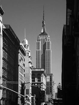 Empire State Building Black and White by Donna Betancourt