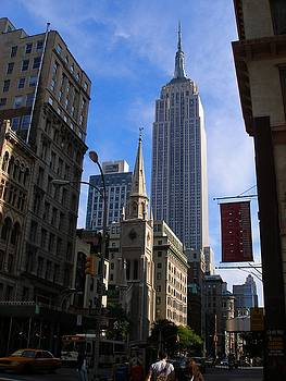 Empire State Building-New York City-Manhattan Skyline by Candace Garcia