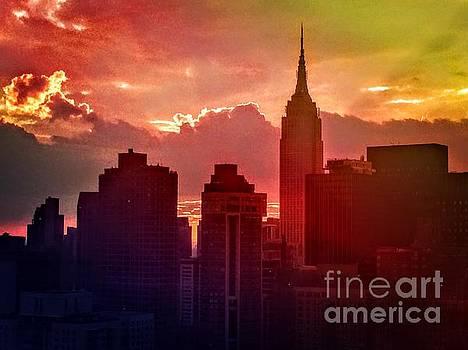 Empire State Sunset by Miriam Danar