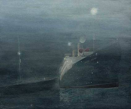 Empress Of Ireland Collision by Jim Clary