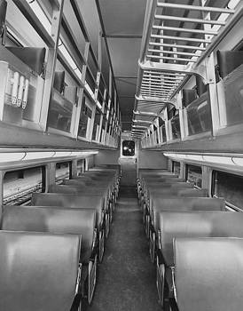 Chicago and North Western Historical Society - Empty Bilevel Passenger Car - 1959