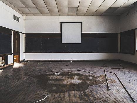 Empty Classroom In Abandoned School by Dylan Murphy