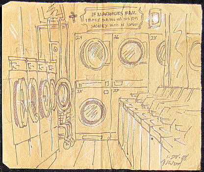 Empty Laundromat by Radical Reconstruction Fine Art Featuring Nancy Wood