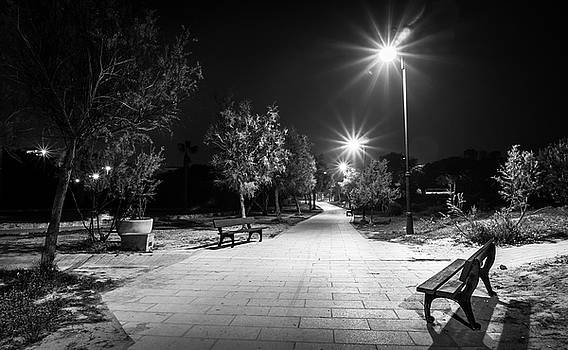 Empty Park Benches. by Gary Gillette