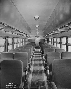 Chicago and North Western Historical Society - Empty Passenger Car Seating