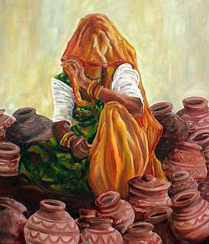 'Empty Pots...Invisible Thoughts' by Murali