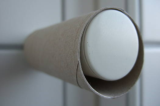 Empty toilet paper roll by Matthias Hauser