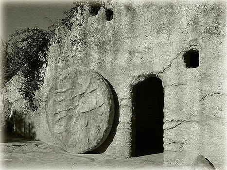 Jill Lang - Empty Tomb in Black and White