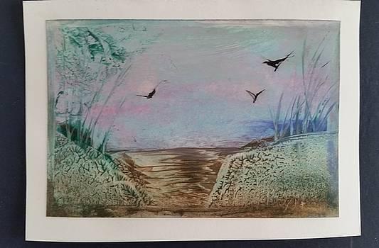 Encaustic landscape by Lorraine Bradford