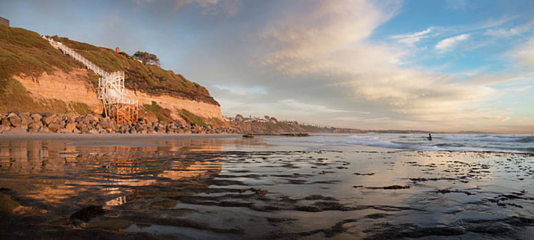Encinitas Cliffs and Sunset by William Dunigan
