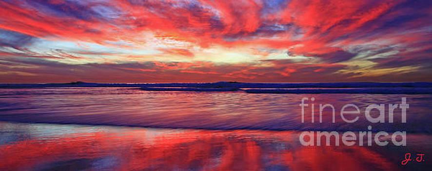 Encinitas Afterglow by John F Tsumas