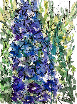 Enclosed in Ink-Delphinium by Garima Srivastava