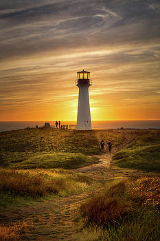 End of day at the Borgot Lighthouse by Yves Keroack