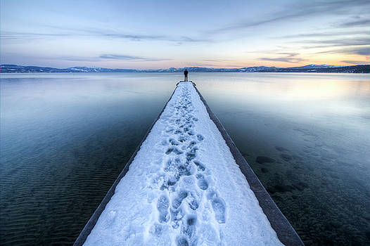 End of the Dock in Lake Tahoe  by Dustin K Ryan