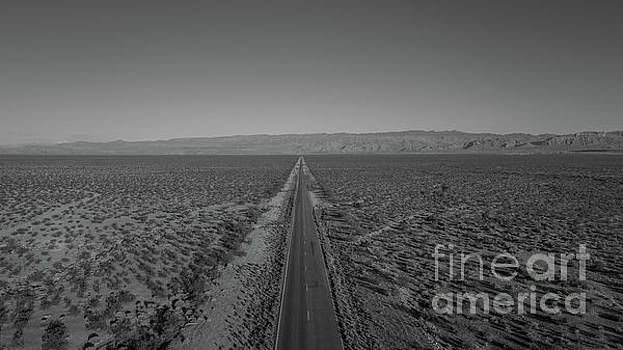 Endless Road Aerial BW by Michael Ver Sprill