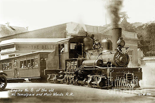 California Views Mr Pat Hathaway Archives - Engine No. 8 of the old Mt Tamalpais and Muir Woods Railroad