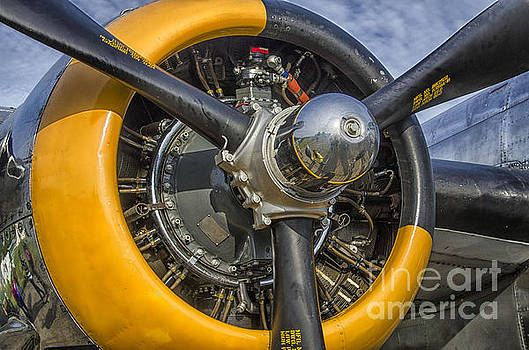 Engine Of B-25 by JRP Photography