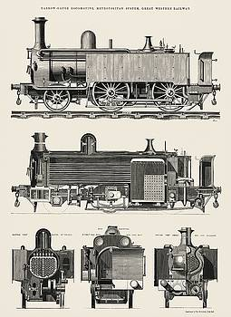 Engine train and its compartments by Edward Charles Healey