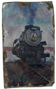 Engine2317 - dirty tintype - vert. by Rich Walter