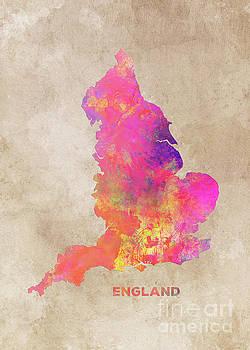 Justyna Jaszke JBJart - England map