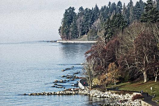 English Bay Shore by Sheldon Bilsker