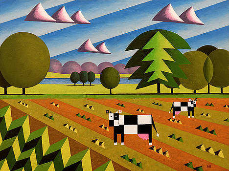 English Countryside With Cows by Bruce Bodden