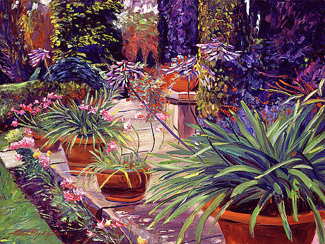 English Estate Patio Garden by David Lloyd Glover