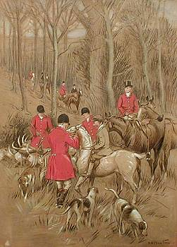English Hunt Scene, by Robert Hugh Buxton