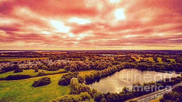 English Orange Sunset by Owen Hunte