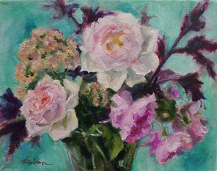 English Rose Boquet by Veronica Coulston