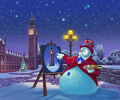 English Snowman by Michael Humphries