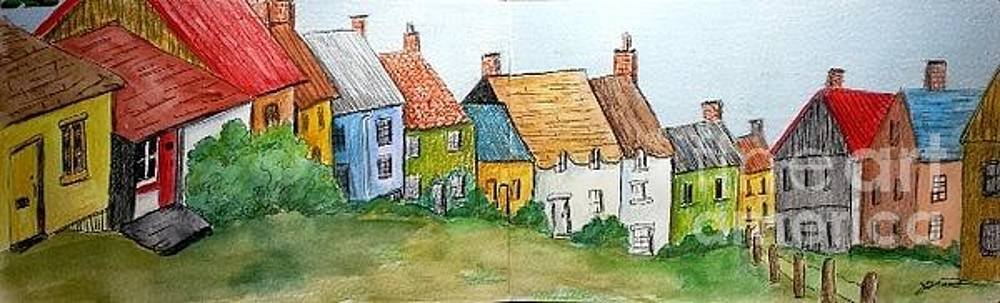 English Village by Jeanne Grant