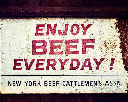 Lisa Russo - Enjoy Beef Everyday Vintage Rustic Kitchen Sign