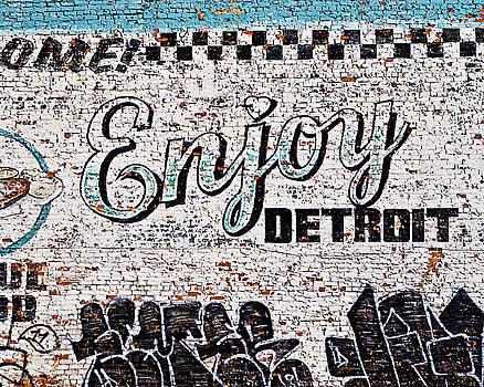 Enjoy Detroit Graffiti by Alanna Pfeffer