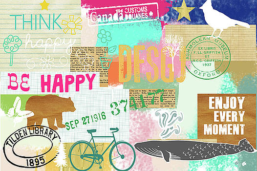 Enjoy every moment collage by Claudia Schoen