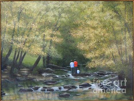 Eno River Afternoon by Phyllis Andrews