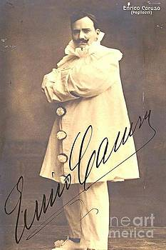 Enrico Caruso as Pagliacci Autographed Print by Pd