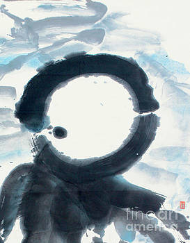 Enso Moon Rising Above The Mountain by Nadja Van Ghelue