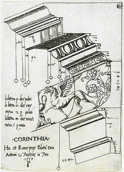 Master PS - Entablature from the Temple of Antoninus and Faustina