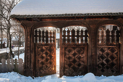 Enter the gate into the winter season by Daniela Constantinescu
