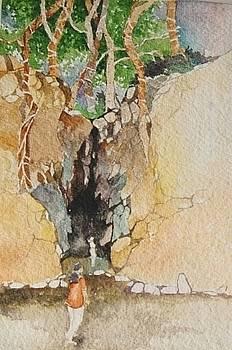 Entering Limestone Cave by Prakash Sree S N