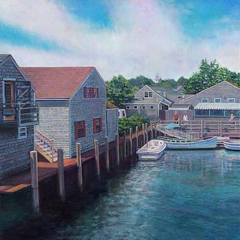 Entering Nantucket Harbor by David P Zippi