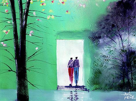 Entering the light by Anil Nene