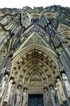 Entrance of Cologne Cathedral in Cologne Germany by Paul Pobiak