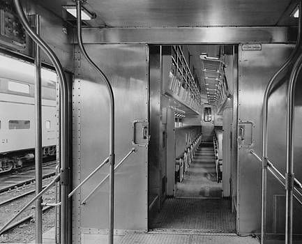 Chicago and North Western Historical Society - Entrance to Bilevel Car 47 - 1959