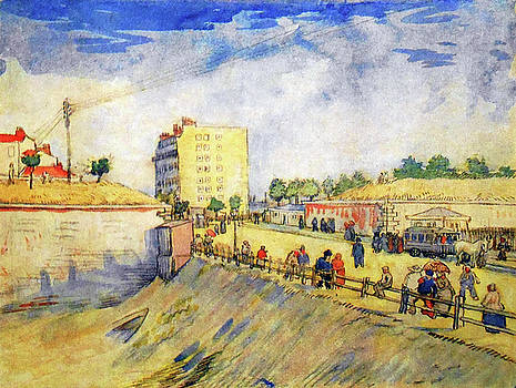 Vincent van Gogh - Entrance to Paris with a Horsecar