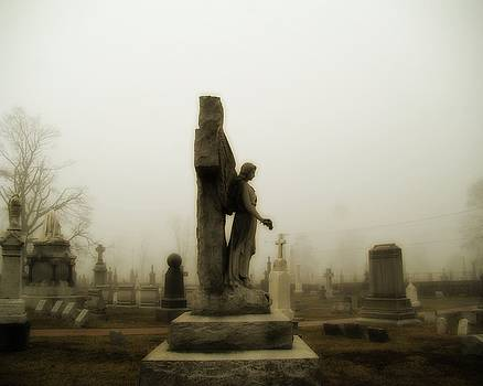 Gothicrow Images - Stone Angel Enveloped By Fog