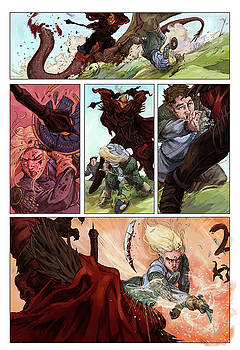Eowyn vs. Nazgul pg 2 colored by Storn Cook