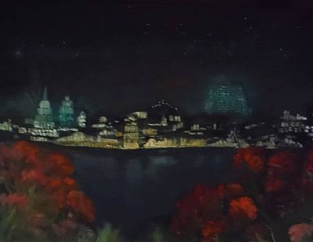 Epcot at Night by Jacqueline Whitcomb